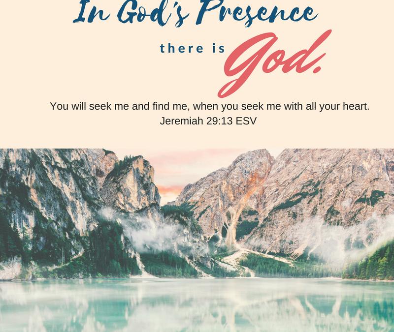 Day 1~ In God's Presence Mini-Study